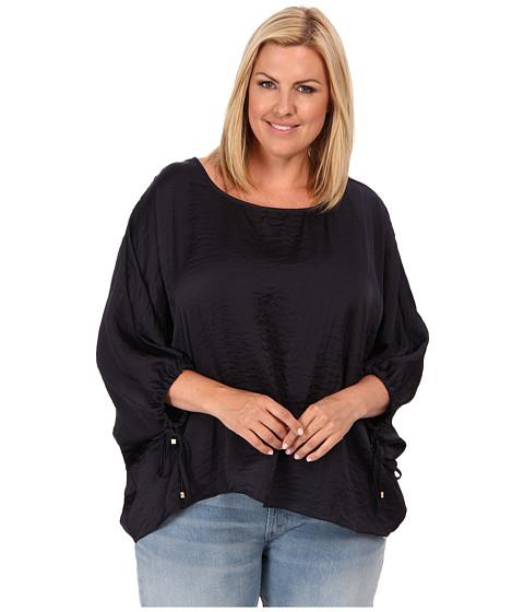 Bluze MICHAEL Michael Kors - Plus Size Kimono Top w/ Sleeve Ties - Navy