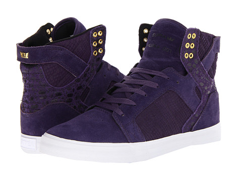 Adidasi Supra - Skytop - Purple/Gold/White