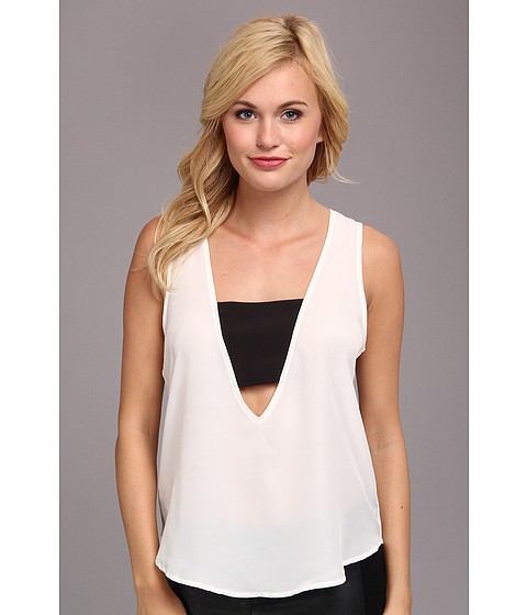 Bluze BCBGeneration - Love V-Neck Top - Off White