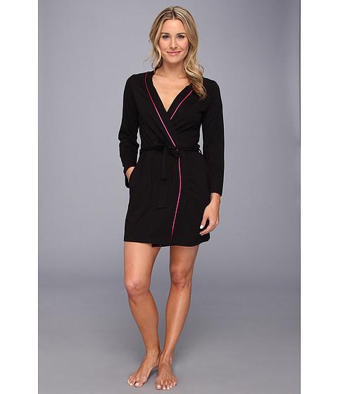 Lenjerie Cosabella - Bella L/S Robe - Black/Miami Pink