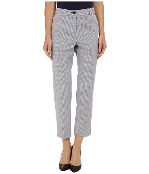 Pantaloni Jones New York - Side Slit Crop Pant - Navy/White