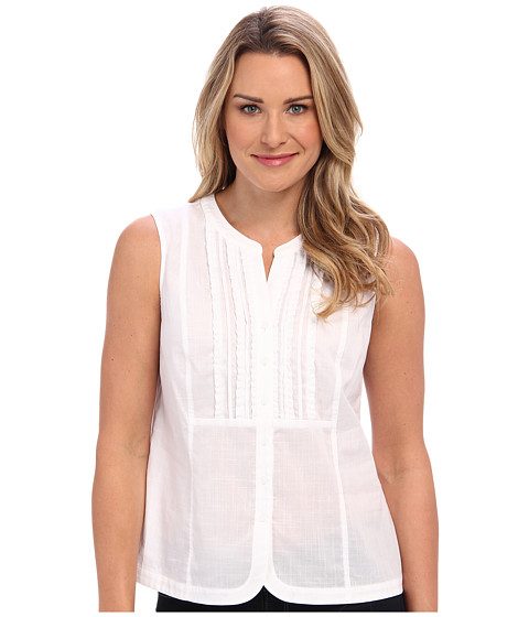 Bluze Jones New York - Sleeveless Ruffle Front Top - White