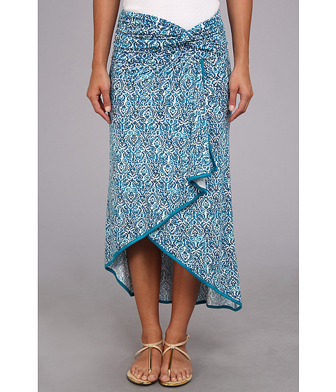 Fuste Michael Stars - Filagree Batik Print Convertible Skirt - Atlantic
