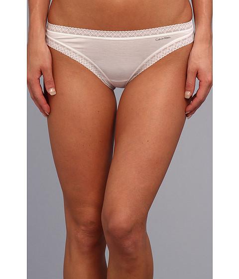Lenjerie Calvin Klein - Flourish Thong - White