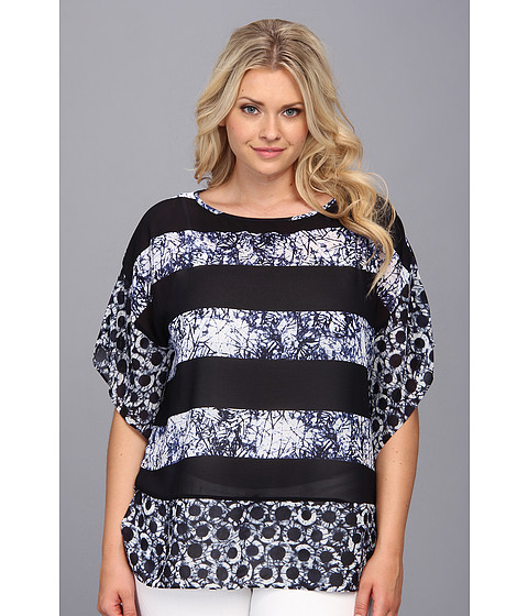 Bluze MICHAEL Michael Kors - Plus Size Peninsula Kimono Tunic - Navy
