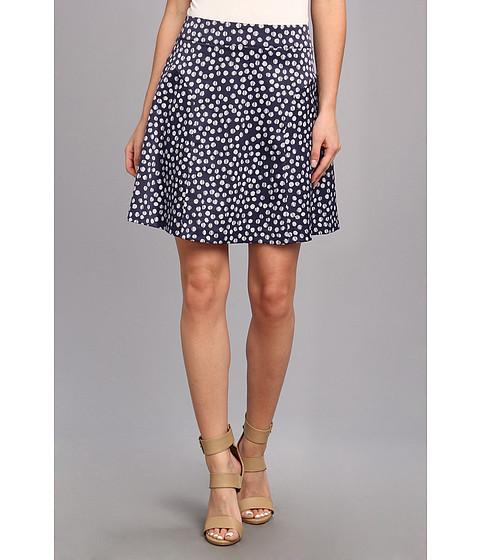 Fuste kensie - Striped Dots Skirt - Dark Navy Combo