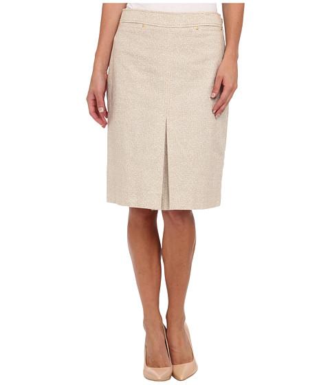 Fuste Jones New York - Rivet Trimmed A-Line Skirt - Rye/Ivory