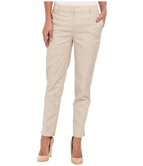 Pantaloni Jones New York - Grace Ankle Pant w/ Side Slit - Rye/Ivory
