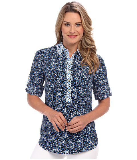 Bluze Jones New York - Tunic w/ Patch Pockets - Navy Combo