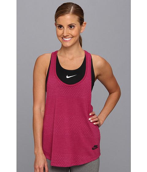 Bluze Nike - Text Stripe Signal Tank Top - Bright Magenta/Black