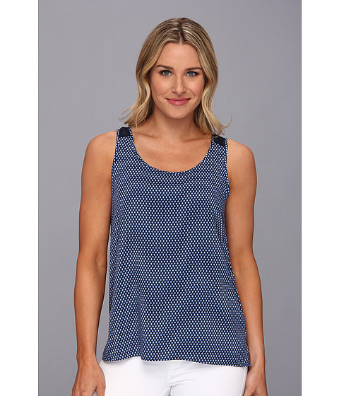 Bluze Vince Camuto - Stylish Geo Tank - Blue Night