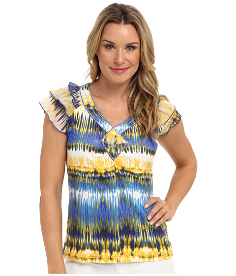 Bluze Caribbean Joe - Chiffon Sleeve Top - Batiki