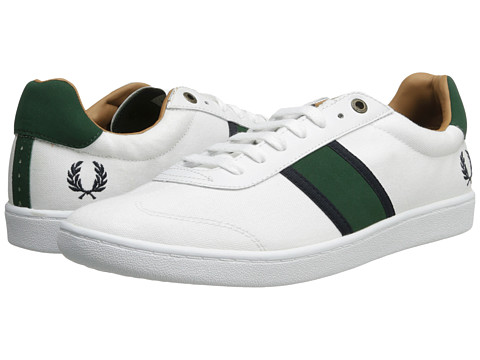 Adidasi Fred Perry - Sebright Canvas - White/Tartan Green