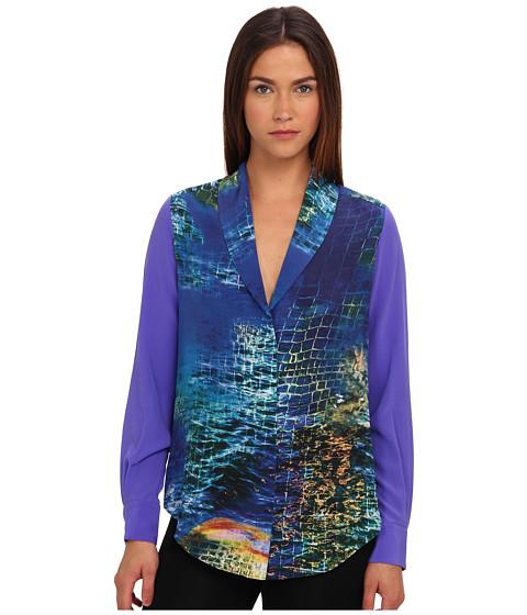 Bluze Rachel Roy - Collar Shirt - Turkish Sea Multi