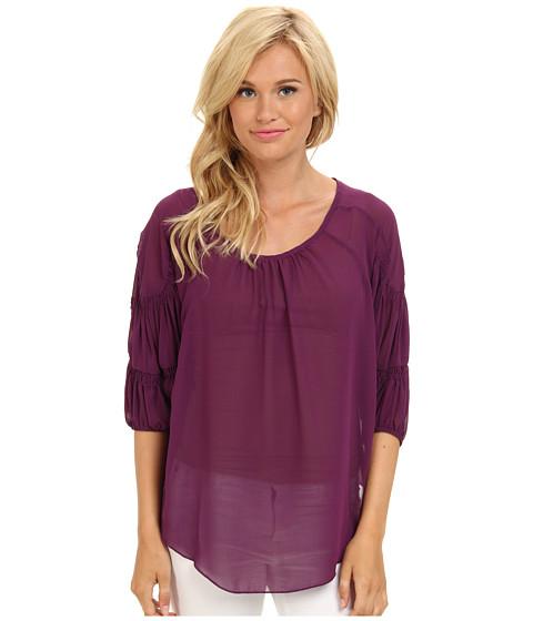 Bluze Gabriella Rocha - Ruffle Arm Chiffon Top - Purple