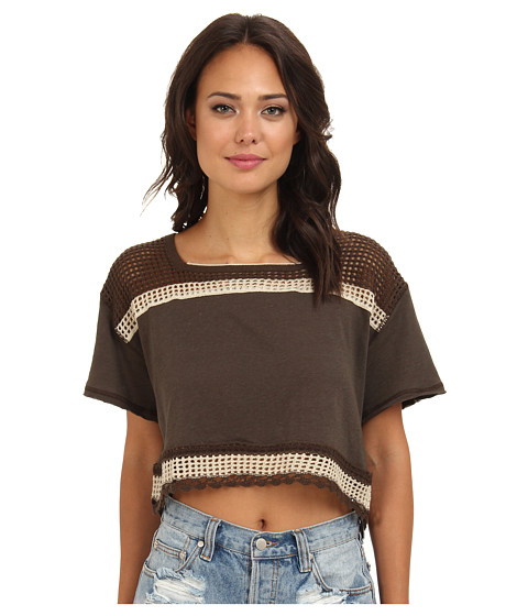 Bluze Free People - Bunny Crop Top - Deep Mocha