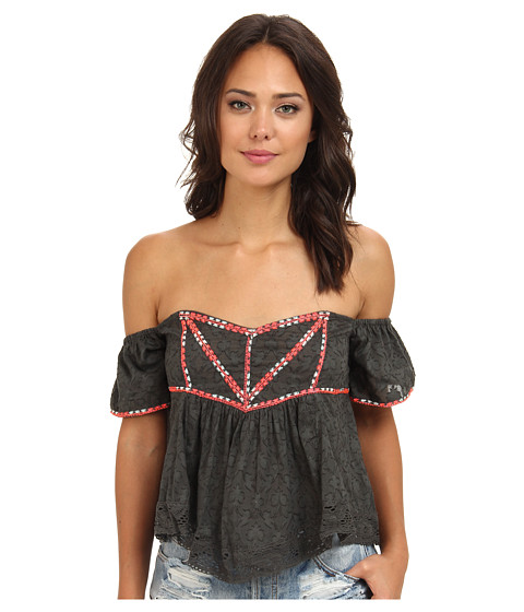 Bluze Free People - Chicka Chicka Boom Boom Top - Charcoal