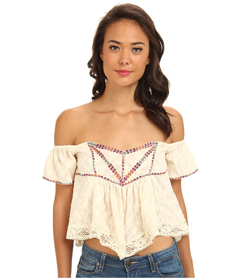 Bluze Free People - Chicka Chicka Boom Boom Top - Eggshell