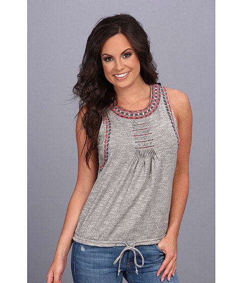 Bluze Lucky Brand - Riverton Tie Front Tank - Heather Grey