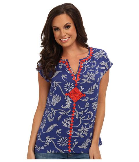 Bluze Lucky Brand - Batik Floral Shirt - Blue Multi
