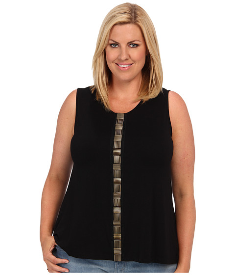Bluze Vince Camuto - Plus Size S/L Embellished Front Seam Tank - Rich Black