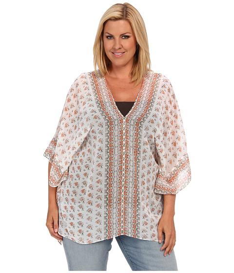 Bluze Vince Camuto - Plus Size Delicate Foulard Border Poncho - Nectarine