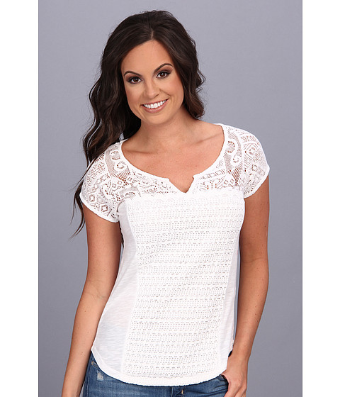 Bluze Lucky Brand - Lace Patchwork Top - Lucky White