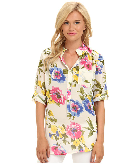 Bluze Brigitte Bailey - Floral Print Chiffon Top - White