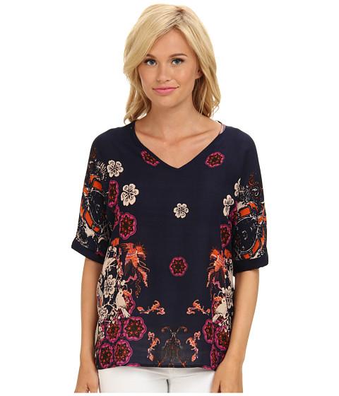 Bluze Brigitte Bailey - Floral Print Tunic - Navy