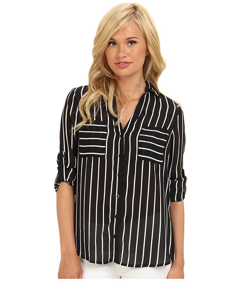 Bluze Brigitte Bailey - Stripe Button Down Blouse - Black
