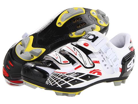 Pantofi SIDI - Spider SRS Carbon - White/Black/Red Vernice