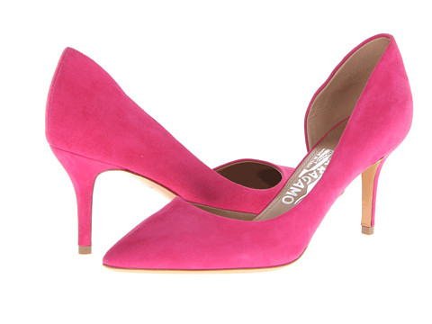 Pantofi Salvatore Ferragamo - Pam Glass - Agata Rosa