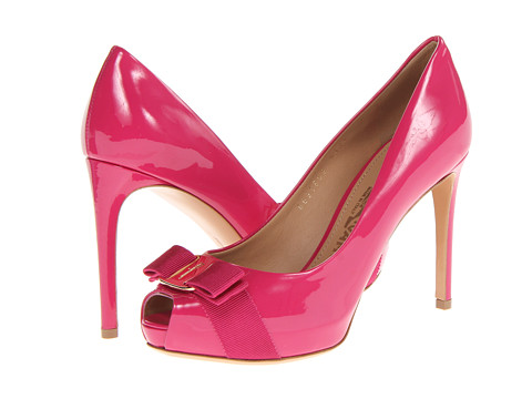 Pantofi Salvatore Ferragamo - Plum - Agata Rosa