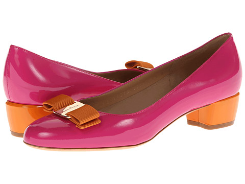 Pantofi Salvatore Ferragamo - Vara M 3 - Agata Rosa/Arancio