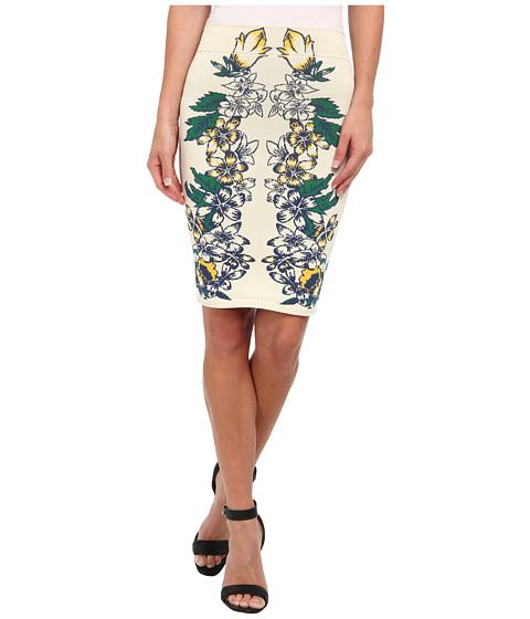 Fuste BCBGMAXAZRIA - Caimbrie Jacquard Power Skirt - Tiger Lily Combo