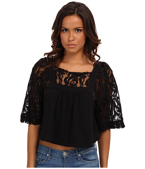 Bluze Free People - Catalina Tee - Black Combo