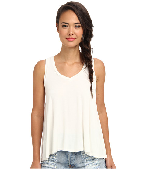 Bluze BCBGeneration - Sleeveless Round Neck Drape Back Top - Off White