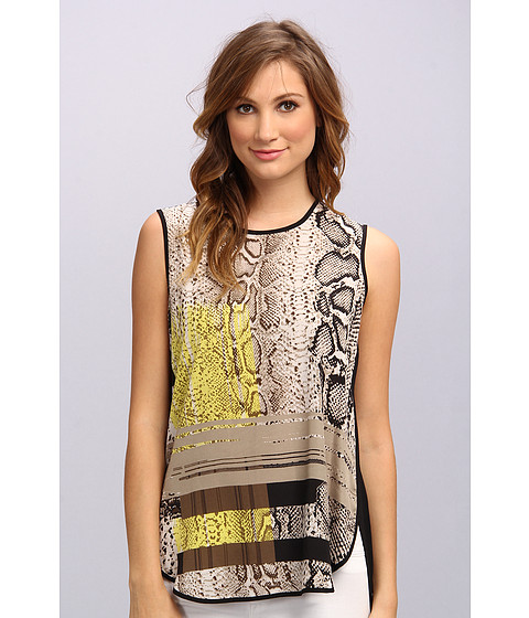 Bluze Vince Camuto - S/L Neo Snake Shirt Tail Blouse - Fossil