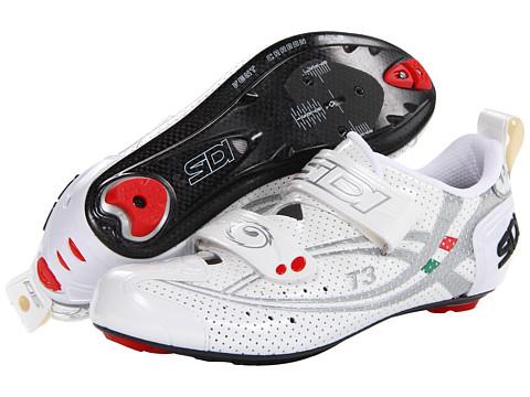 Pantofi SIDI - T3.6 Vent Air Carbon - White/Silver Vernice