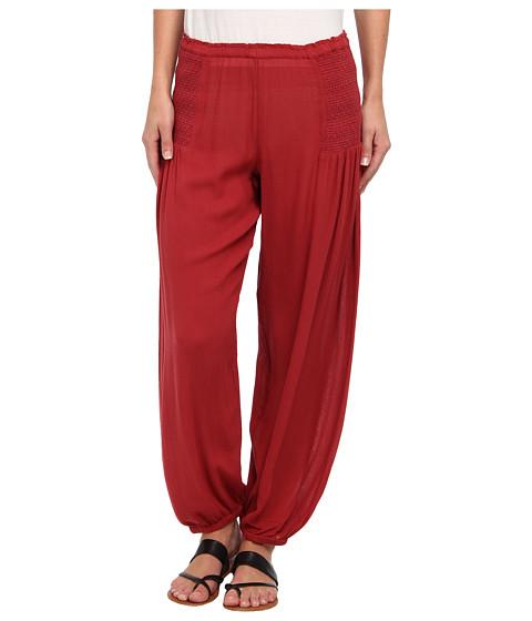 Pantaloni Free People - Leighanna Smocked Pant - Brick