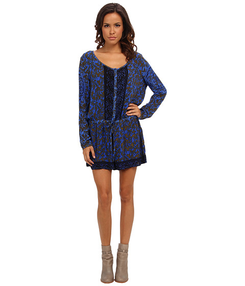 Pantaloni Free People - Resort Romper - Electric Blue Combo
