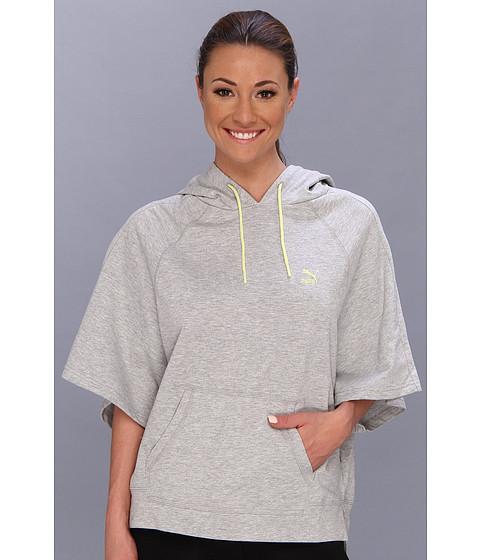 Bluze PUMA - Short Sleeve Hoodie - Light Gray Heather