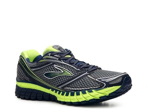 Pantofi Brooks - Ghost 6 Running Shoe - Mens - Navy Blue/Green