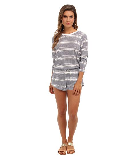 Pantaloni Dolce Vita - Adelynn Linen Stripe - Thin Stripe Romper - Navy/Cream