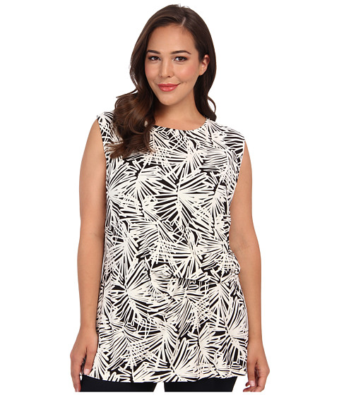 Bluze DKNY - Plus Size Sleeveless Side Ruched Top - Black