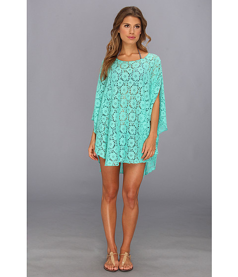 Lenjerie Lucky Brand - Flower Child Poncho Cover-Up - Jade
