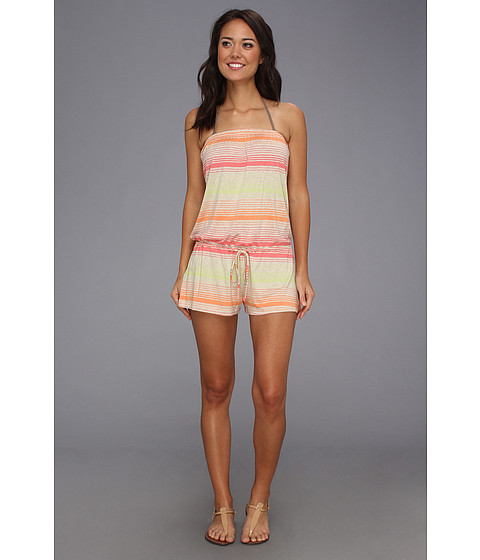 Lenjerie Lucky Brand - Neutral Territory Romper Cover-Up - Washed Citrus