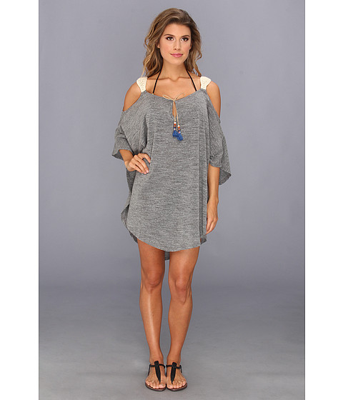 Lenjerie Lucky Brand - Pure Spirit Poncho Cover-Up - Grey Heather