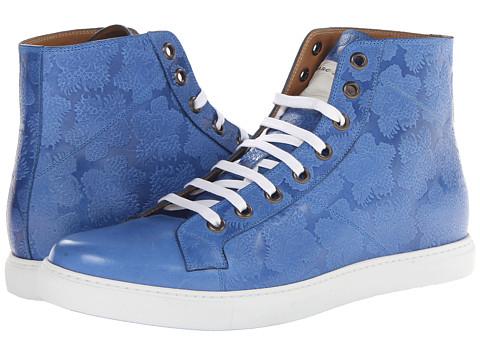 Adidasi Marc Jacobs - Floral Embossed High Top Trainer - Cobalt