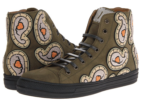 Adidasi Marc Jacobs - Paisley High Top Trainer - Light Green Olive